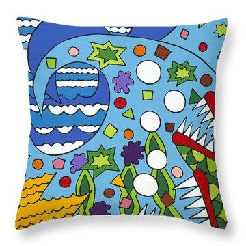 Tumbled Throw Pillow by Rojax Art