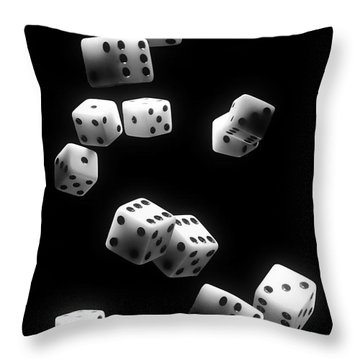 Tumbling Dice Throw Pillow