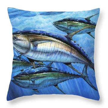 Tuna In Advanced Throw Pillow