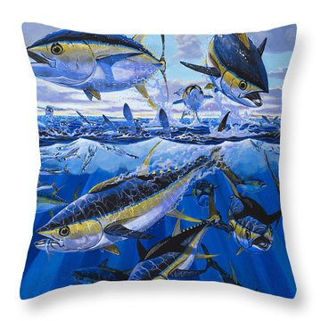 Tuna Rampage Off0018 Throw Pillow by Carey Chen