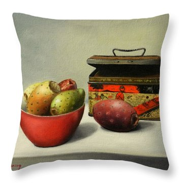 Tunas And Chinese Box, Peru Impression Throw Pillow