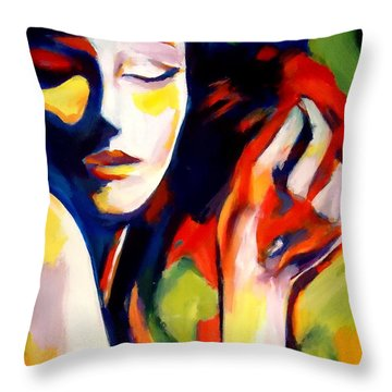 Throw Pillow featuring the painting Tuning by Helena Wierzbicki