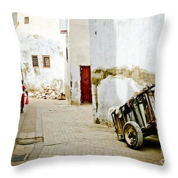 Tunisian Girl Throw Pillow