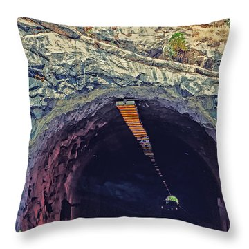 Tunnel At Yosemite Throw Pillow