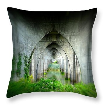 Tunnel Effect Throw Pillow