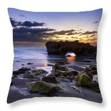 Tunnel Of Light Throw Pillow by Debra and Dave Vanderlaan