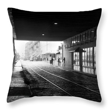 Tunnel Reflections Throw Pillow by Lynn Palmer