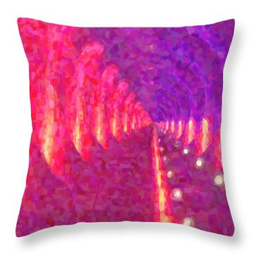 Tunnel Vision Throw Pillow by Kenny Francis