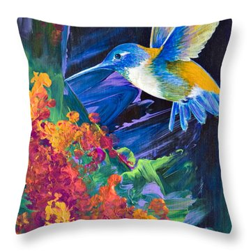 Tunnel Vision Throw Pillow by Tracy L Teeter