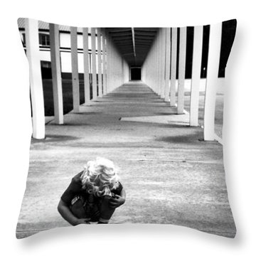 Throw Pillow featuring the photograph Tunnel Vision by Tyson Kinnison