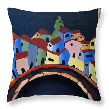 Tunnels Of Guanajuato Throw Pillow