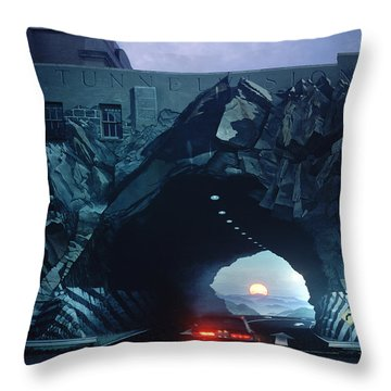 Tunnelvision Throw Pillow by Blue Sky