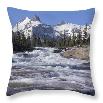 6m6539-tuolumne River  Throw Pillow