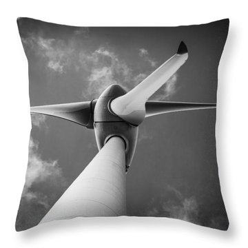 Throw Pillow featuring the photograph Turbine. by Gary Gillette