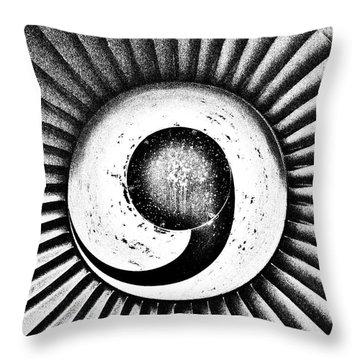 Turbofan Throw Pillow by Benjamin Yeager