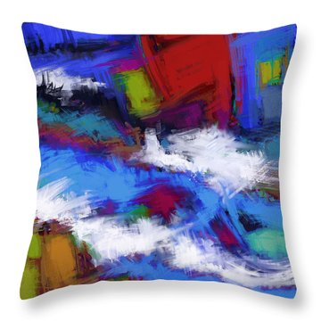 Turbulence Throw Pillow by Keith Mills