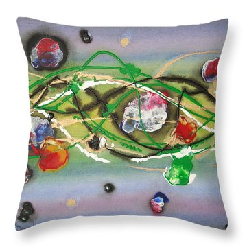 Turbulence Throw Pillow by Krystyna Spink