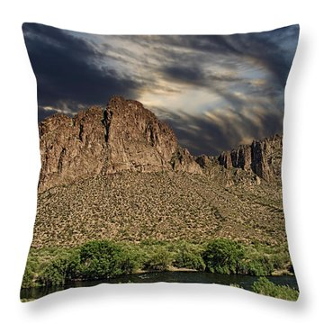 Turbulent Sky Throw Pillow