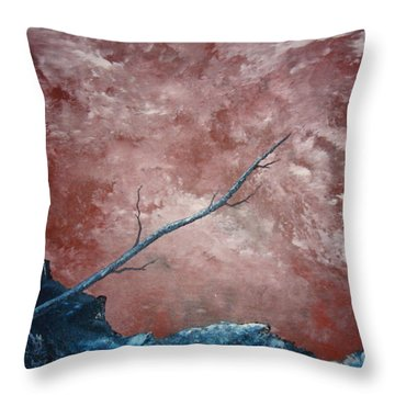 Throw Pillow featuring the painting Turbulent Stick by Stuart Engel