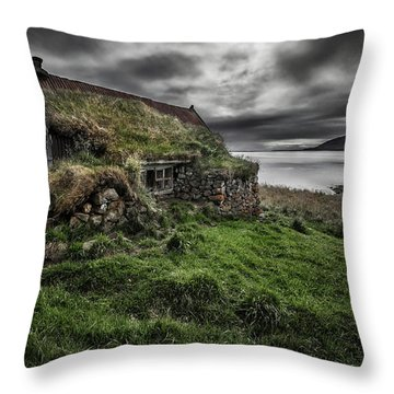 Abandoned House Throw Pillows