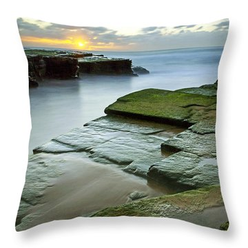 Turimetta Beach Sunrise Throw Pillow