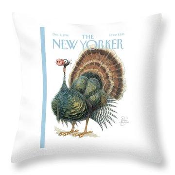 Turkey Wearing A False Pig Nose Throw Pillow