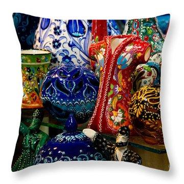Turkish Ceramic Pottery 2 Throw Pillow