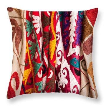 Turkish Textiles 04 Throw Pillow