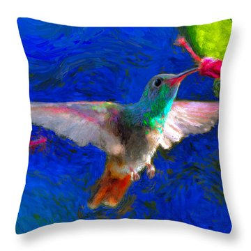 Da052 Turkscap Hummingbird  Throw Pillow