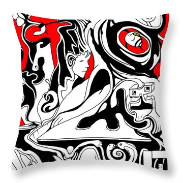 Turmoil Throw Pillow