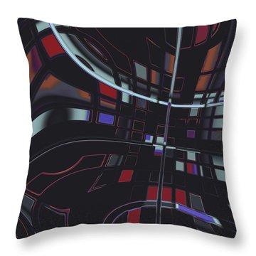 Throw Pillow featuring the digital art Turmoil by Judi Suni Hall