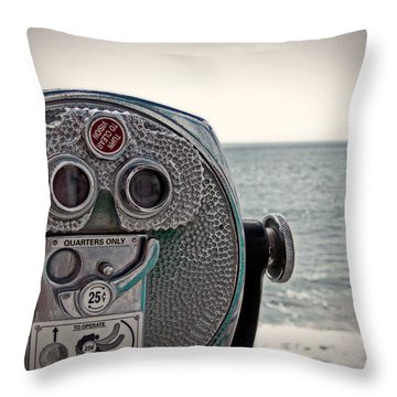 Turn To Clear The Ocean Throw Pillow by Tom Gari Gallery-Three-Photography