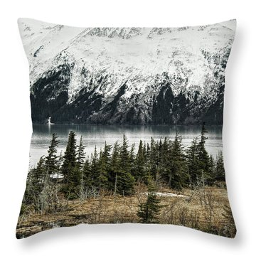 Turnagain Arm  Throw Pillow