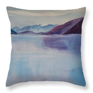 Turnagain Arm In Alaska Throw Pillow by Karen Mattson