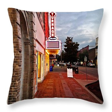 Turnage Theater Grand Opening Throw Pillow