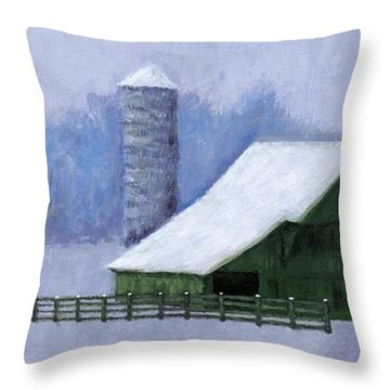 Turner Barn In Brentwood Throw Pillow