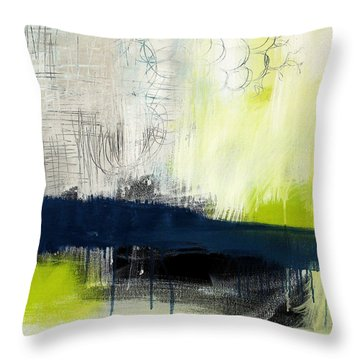 Turning Point - Contemporary Abstract Painting Throw Pillow