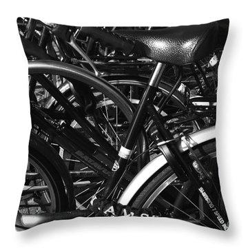 Throw Pillow featuring the photograph Turning Wheels by Maja Sokolowska