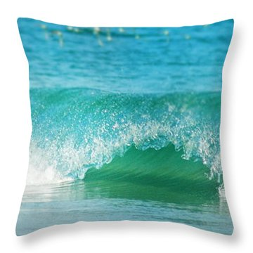 Throw Pillow featuring the photograph Turquois Waves  by Cindy Greenstein