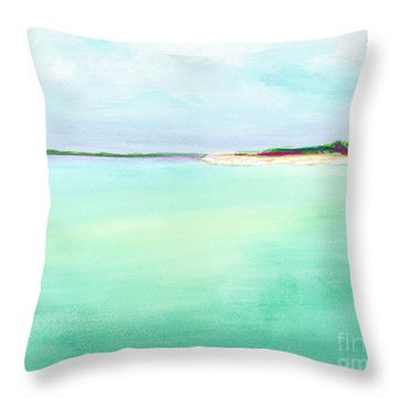 Turquoise Caribbean Beach Horizontal Throw Pillow