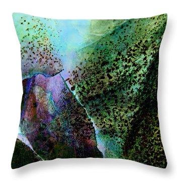 Turquoise Cascade Throw Pillow