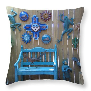 Throw Pillow featuring the photograph Turquoise Corner by Dora Sofia Caputo Photographic Art and Design