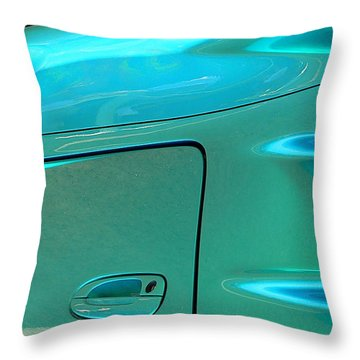 Throw Pillow featuring the photograph Turquoise Exotic Art Lines by Jeff Lowe