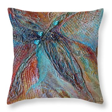 Turquoise Jewel Throw Pillow