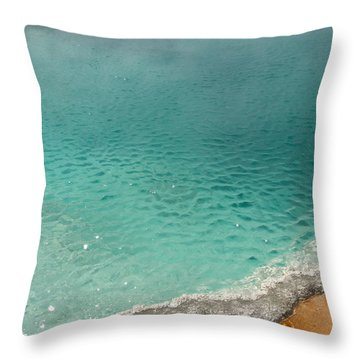 Turquoise Jewels Throw Pillow