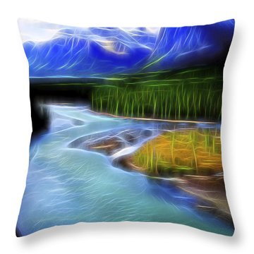 Throw Pillow featuring the digital art Turquoise Light 1 by William Horden