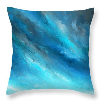 Turquoise Memories - Turquoise Abstract Art Throw Pillow