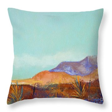 Turquoise Mountains Throw Pillow by Tracy L Teeter
