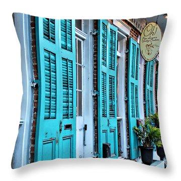 Turquoise On Royal Throw Pillow