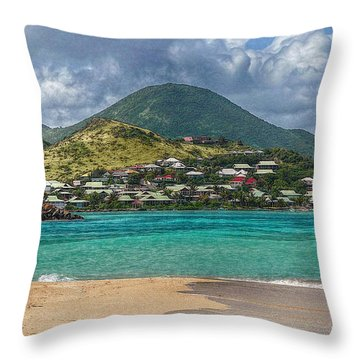 Throw Pillow featuring the photograph Turquoise Paradise by Hanny Heim